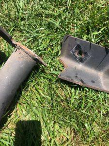 broken rv hitch